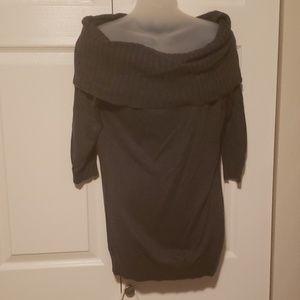 Express grey off shoulder sweater